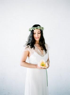 Flroal crown, haarband, bloemenkrans door MK floral design